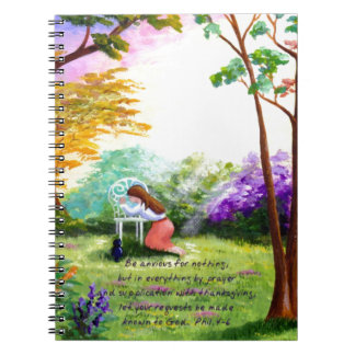 Christian Bible Verse Scripture Creationarts Notebook