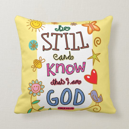 Christian Bible Verse Scripture Text Doodle Cushion