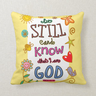 Christian Bible Verse Scripture Text Doodle Cushion