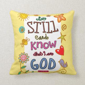 Christian Bible Verse Scripture Text Doodle Throw Pillow