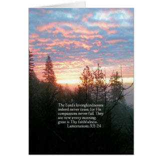 Christian Bible Verse Sunrise Landscape Card