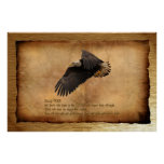 Christian Biblical Scripture on Eagles Art Poster