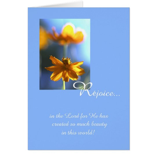 Christian Birthday Card -- Beauty in the World