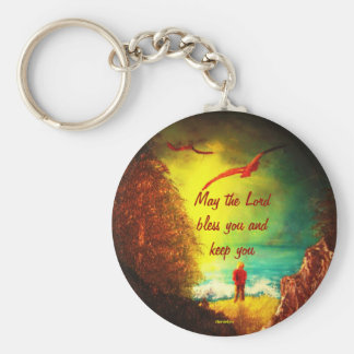 Christian Blessing Keychain