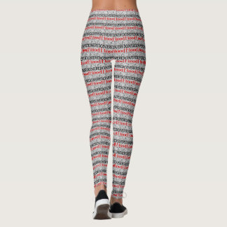 Christian Blood of Jesus Print Leggings