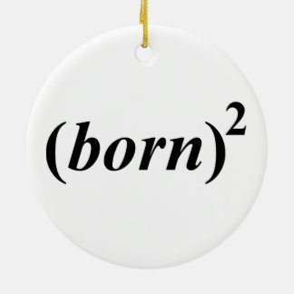 "Christian ""born again"" christmas ornament"