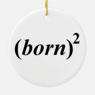 """Christian """"born again"""" round ceramic decoration"""