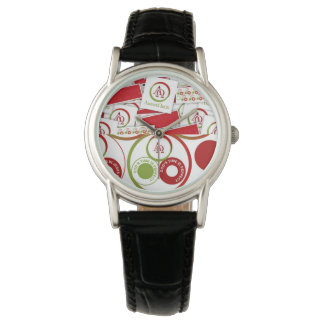 Christian Branded Classic Black Leather  Watch