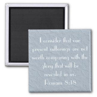 christian butterflies bible verse Romans 8:18 Square Magnet
