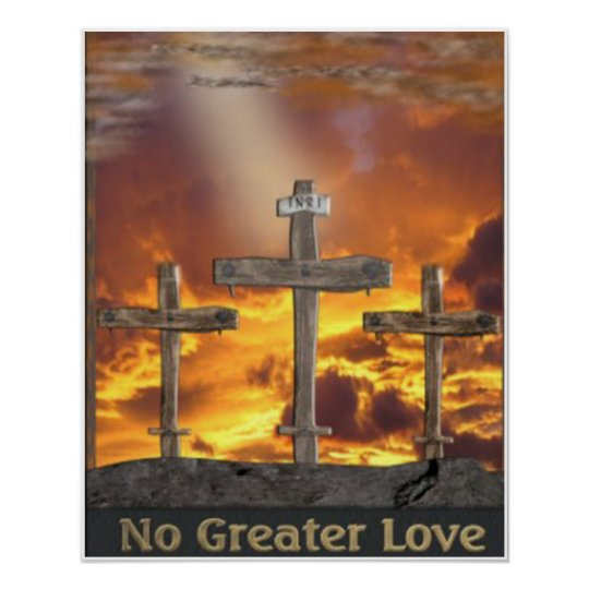 Christian Calvary art poster