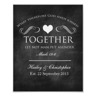 Christian Chalkboard Wedding Print