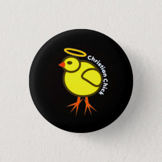 Christian Chick 3 Cm Round Badge