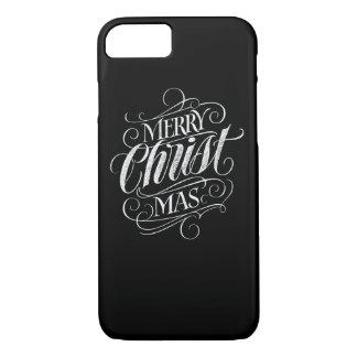 Christian Christ Christmas Chalkboard Lettering iPhone 8/7 Case