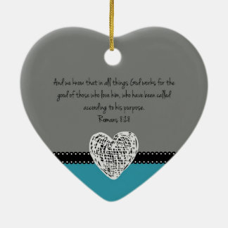 Christian Christmas Bible Verse Romans 8:28 Retro Christmas Ornament