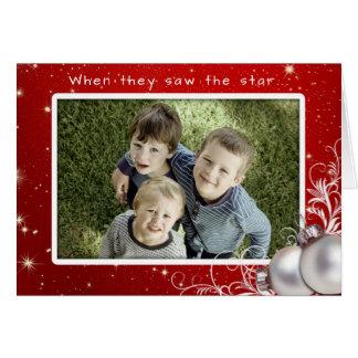 Christian Christmas Big Photo Greeting Card