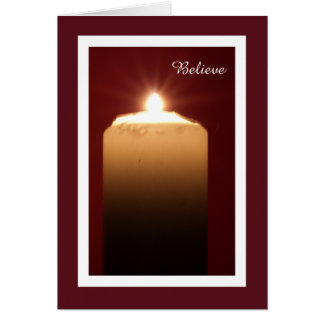 Christian Christmas Card -- Believe