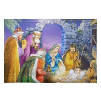 Christian Christmas card Place Mat
