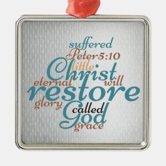 Christian Christmas Christ Will Restore Scripture Christmas Ornament