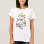 Christian Christmas Joy Love and Peace T-Shirt