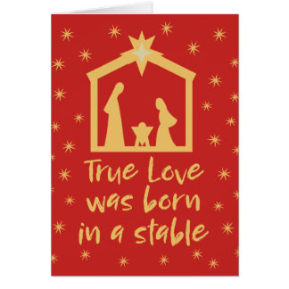 Christian Christmas Nativity Jesus Religious Card