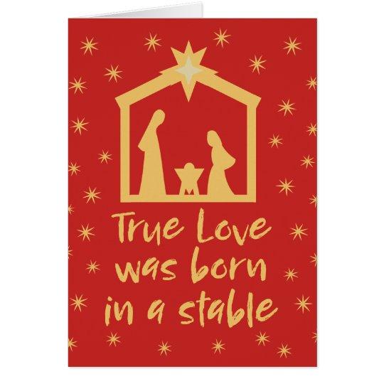 Christian Christmas Nativity Jesus Religious Card