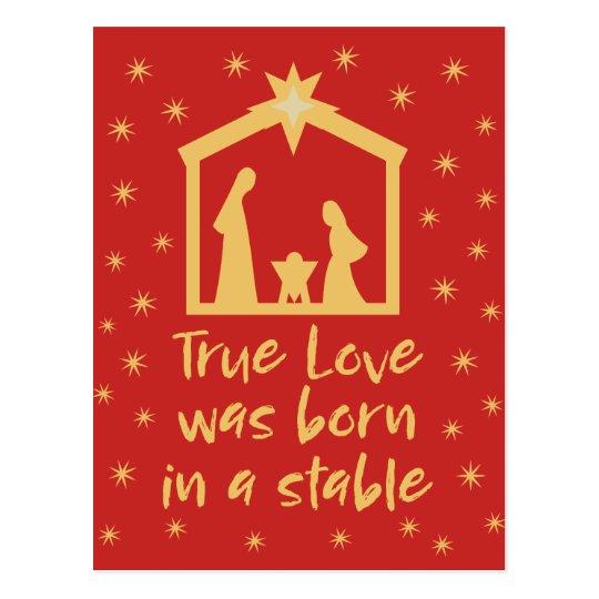 Christian Christmas Nativity Jesus Religious Postcard