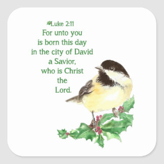Christian Christmas Scripture Sticker Scripture