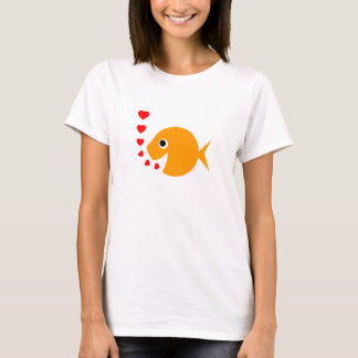 Christian Clean Humor Bachelorette Cute Goldfish T-Shirt