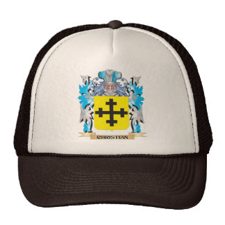 Christian- Coat of Arms - Family Crest Mesh Hats