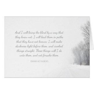 Christian Comfort - God will not forsake you Card