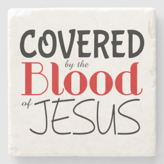 Christian COVERED BY BLOOD OF JESUS Marble Coaster Stone Coaster
