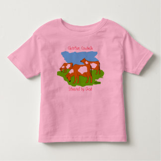 Christian Cowbelle, Steered by God T-shirt