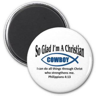 Christian cowboy refrigerator magnet