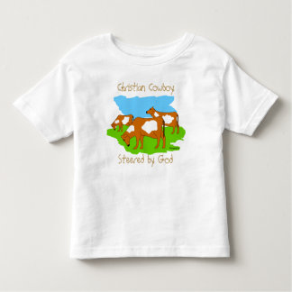 Christian Cowboy, Steered by God T Shirts