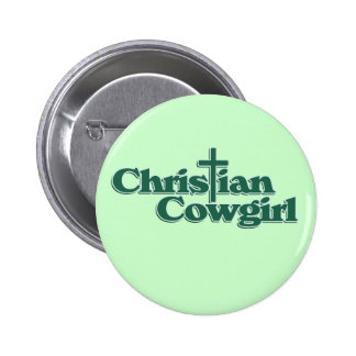 Christian Cowgirl Pinback Buttons