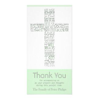 Christian Cross 10 John 14 Sympathy Thank You Card Photo Greeting Card