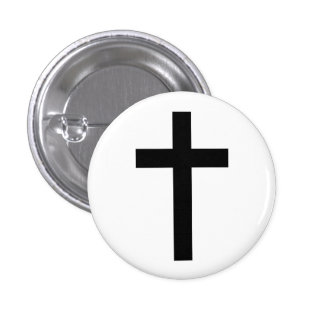 """CHRISTIAN CROSS"" 3 CM ROUND BADGE"