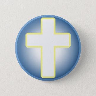 Christian Cross 6 Cm Round Badge