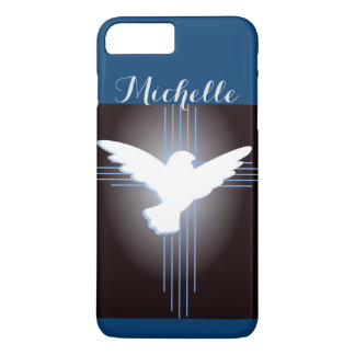 Christian Cross and Dove Personalized iPhone 7 Plus Case