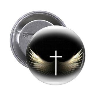 Christian Cross and Holy Spirit 6 Cm Round Badge