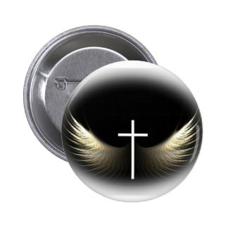 Christian Cross and Holy Spirit Pinback Button
