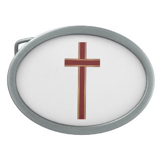 Christian cross belt buckles
