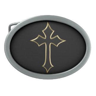 Christian cross belt buckles