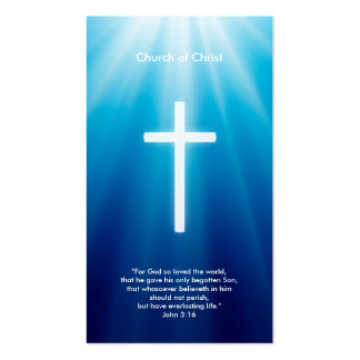 Christian Cross | Blue Rays Pack Of Standard Business Cards