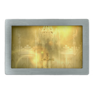Christian Cross  Buckle Rectangular Belt Buckles