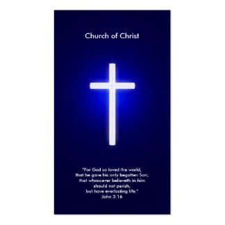 Christian Cross | Dark Blue Pack Of Standard Business Cards