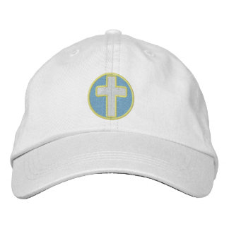 Christian Cross Embroidered Cap