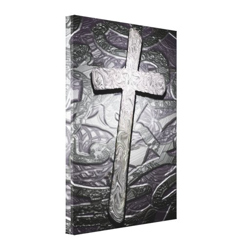 Christian Cross Graphic Wall Art Stretched Canvas Print