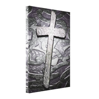 Christian Cross Graphic Wall Art Stretched Canvas Prints