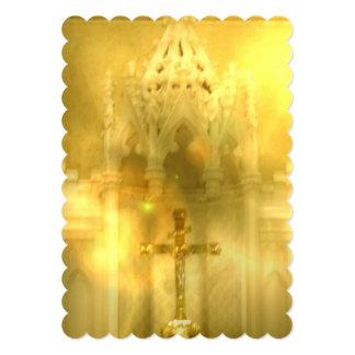 Christian Cross 13 Cm X 18 Cm Invitation Card